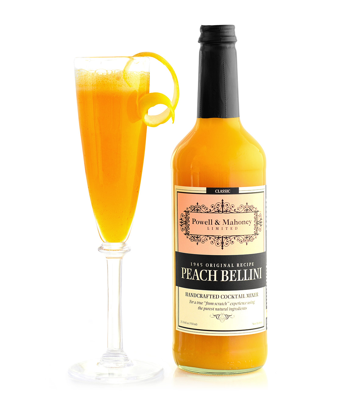 Peach Bellini - Powell & Mahoney Craft Cocktail Mixers