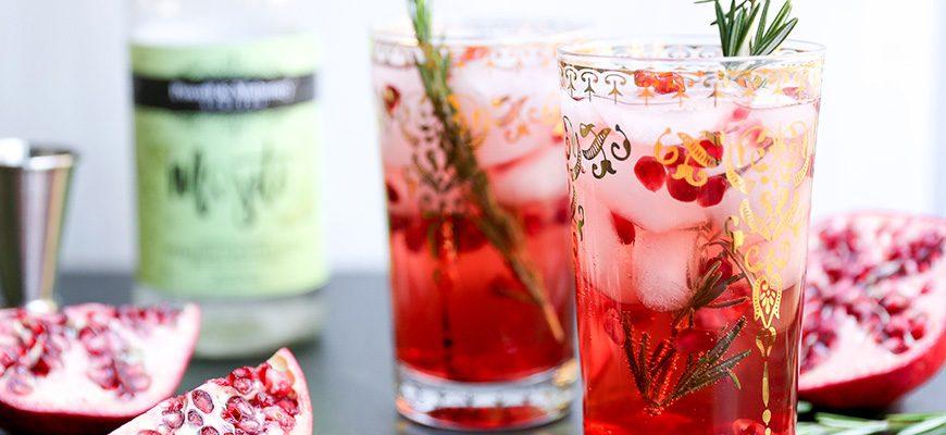 Sparkling Rosemary Pomegranate Mojito