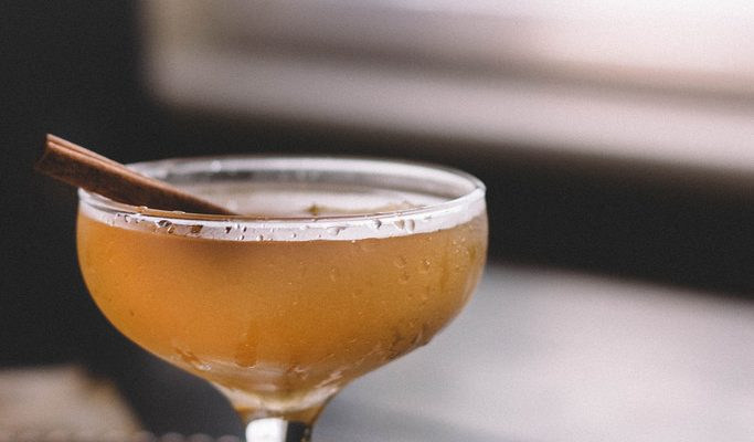 Spiced Pear Brandy Sidecar