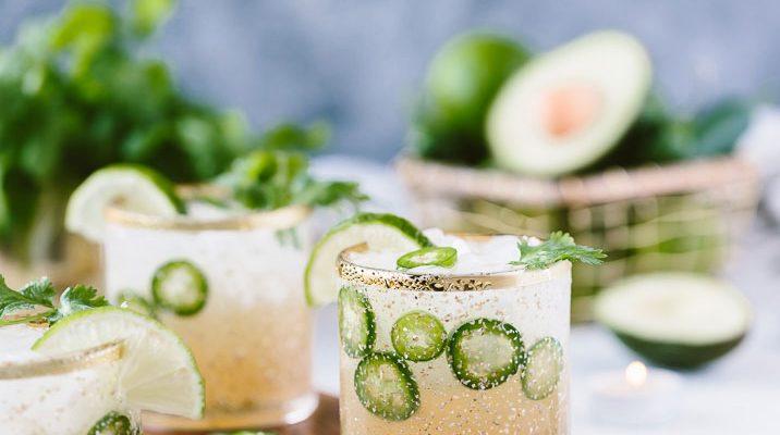 Cilantro-Infused Jalapeño Margaritas