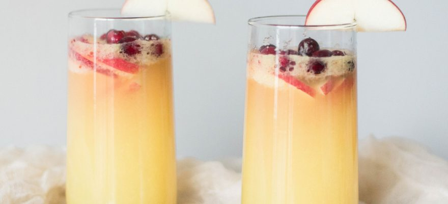 Cranberry Apple Ginger Mimosa