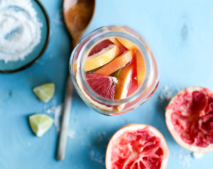 Grapefruit is the perfect winter fruit for cocktails! These Skinny Grapefruit Margaritas are easy to batch beforehand when serving a crowd.