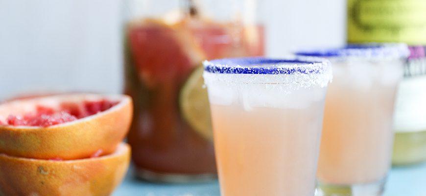 Skinny Grapefruit Margaritas