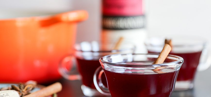 Warm Pomegranate & Red Wine Punch