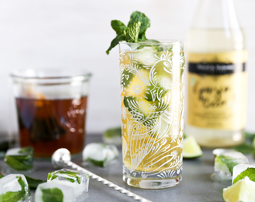 Vodka Green Tea And Ginger Beer Spritzer P M Craft Cocktail Mixers