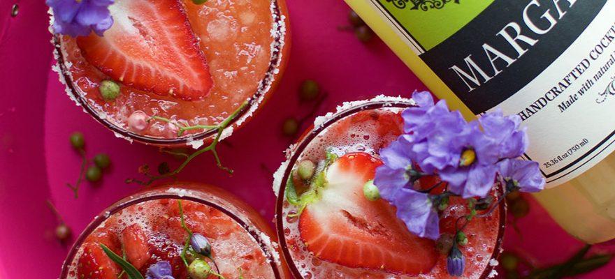 Strawberry Pink Peppercorn Margarita