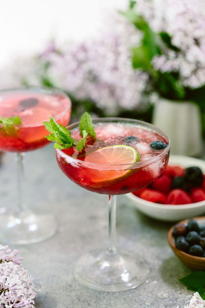 This Triple Berry Martini is a refreshing cocktail made with blueberries, raspberries, and blackberries. Perfect for summer nights, and entertaining friends.