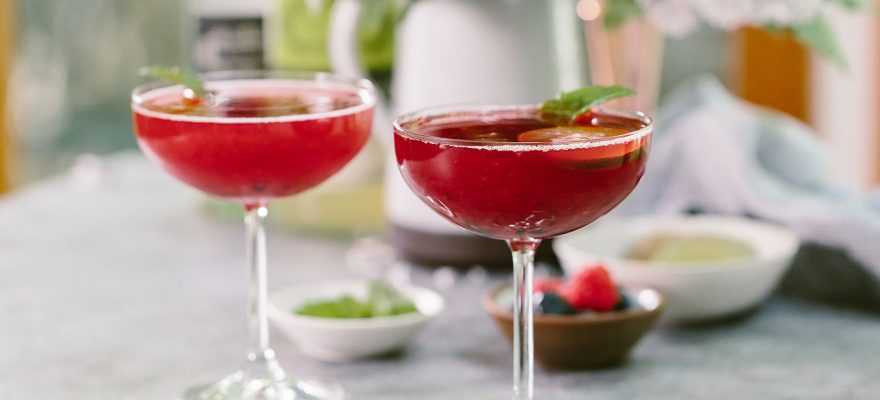 Triple Berry Martini