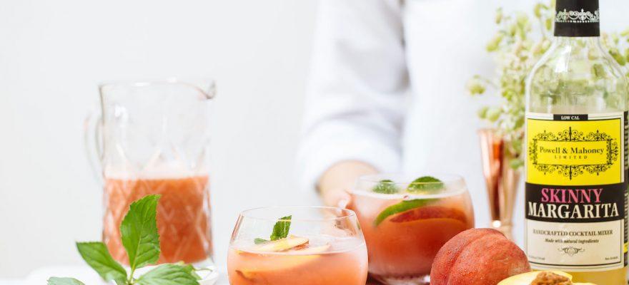 Skinny Peach Margaritas