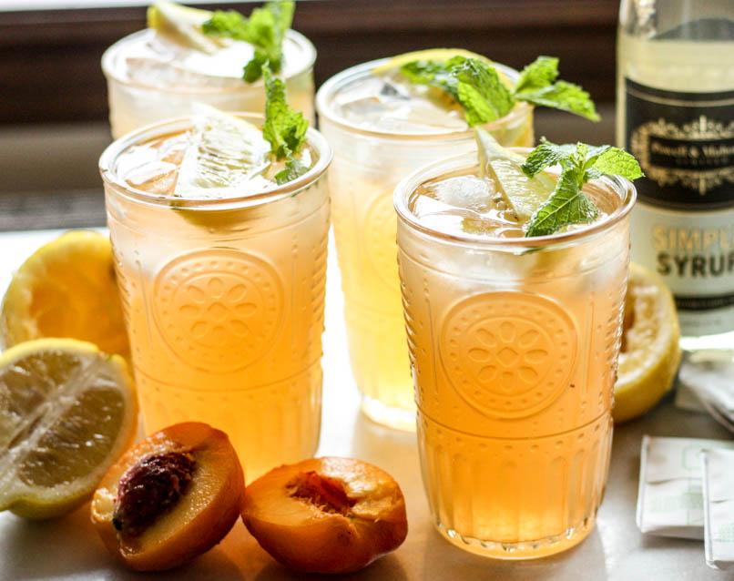 Peach Green Tea Lemonade | Powell & Mahoney Craft Cocktail Mixers