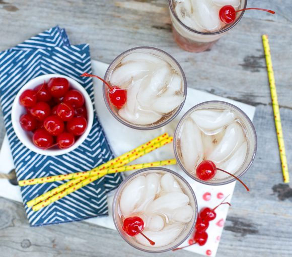 Shirley Temple: America's favorite mocktail made with Powell & Mahoney True Grenadine.