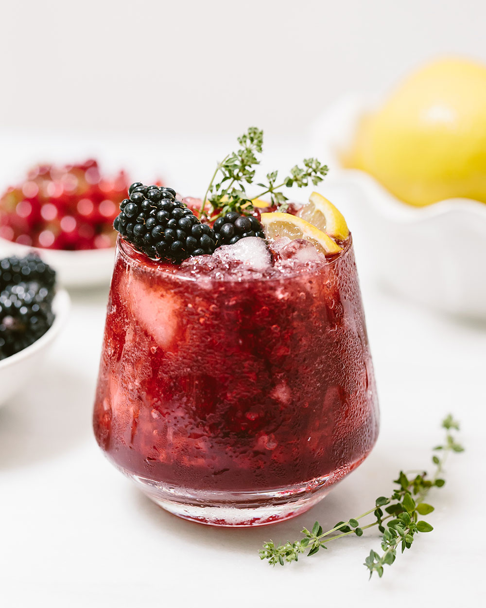 Blackberry Ginger Beer Cocktail: a refreshing end of summer recipe made with Powell & Mahoney Ginger Beer.