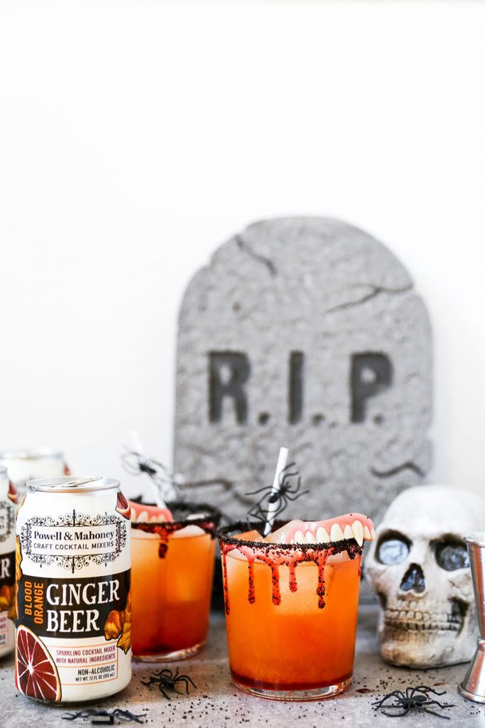 The Gravestone & Ginger: a Halloween Cocktail that your guests are sure to dig!