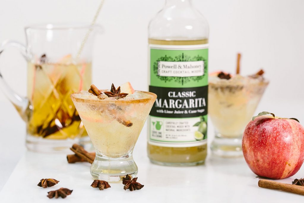 Apple Cinnamon Margarita: the perfect fall cocktail made simply with Powell & Mahoney Classic Margarita.