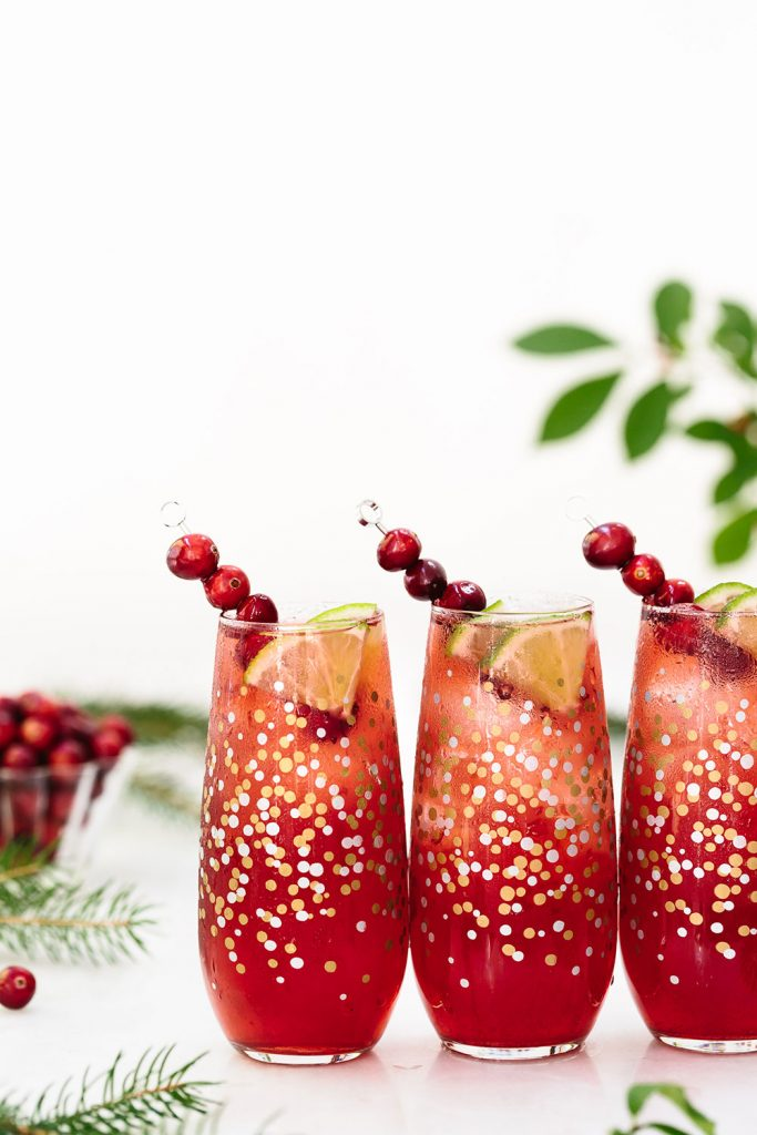 Cranberry Margarita: the perfect holiday cocktail made simply with Powell & Mahoney Classic Margarita.