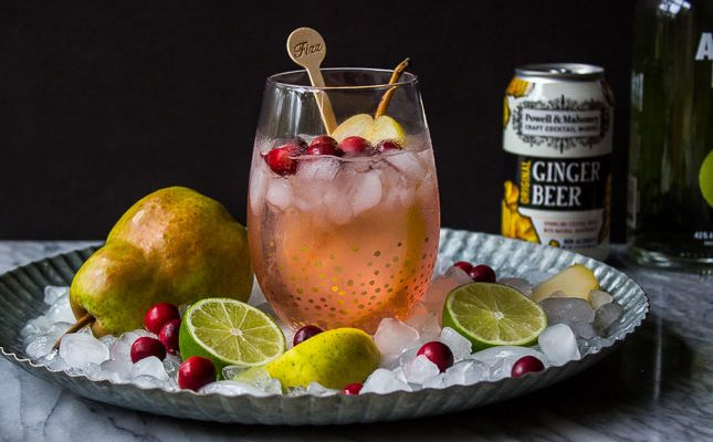 Cranberry Pear Moscow Mule