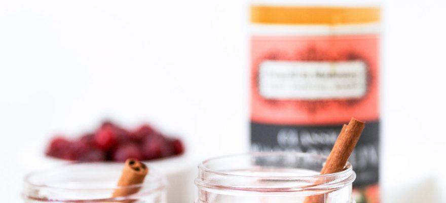 Cranberry & Peach Bellinis