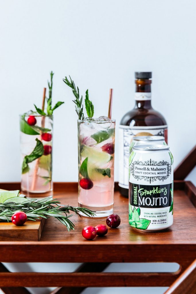 Cranberry Mojito: Cranberry & mint go perfectly together in this sparkling holiday mojito!