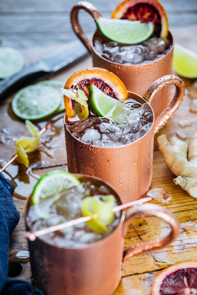 The Blood Orange Mule is a fun citrus twist on the classic Moscow Mule. This delicious cocktail is simple to prepare and sure to impress your guests!