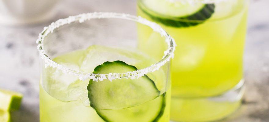 Skinny Cucumber Melon Margarita