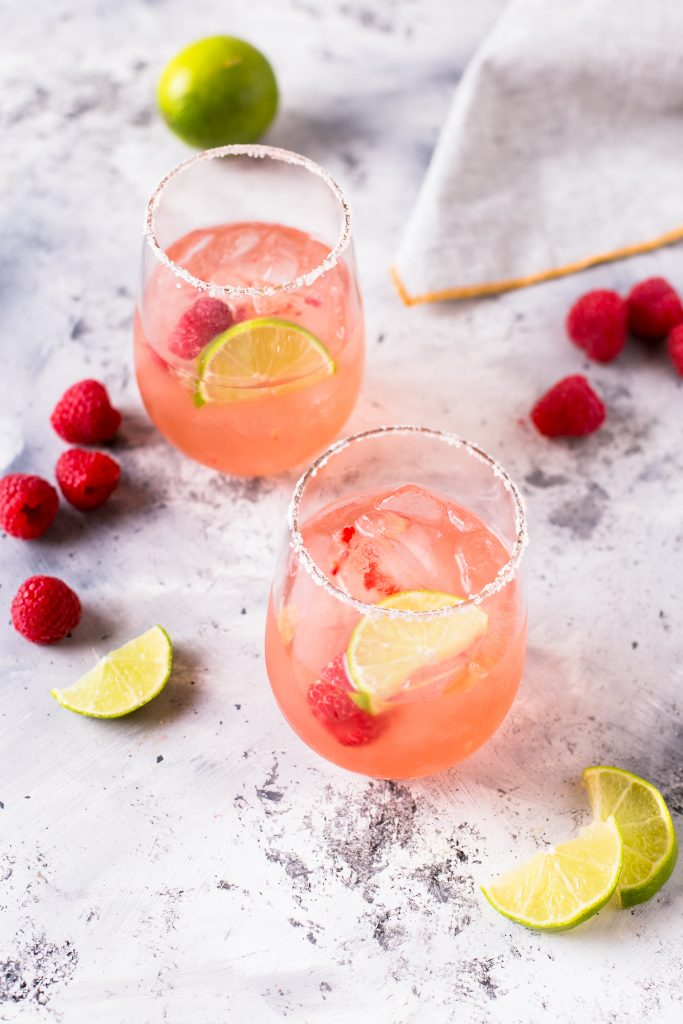 Rose Raspberry Margarita in a series of National Margarita Day recipes