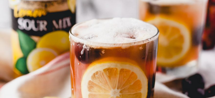 Lemon & Cherry Whiskey Sour
